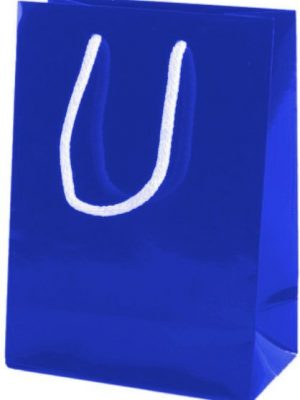 Royal Blue Gloss Paper Party Bags with Rope Handles