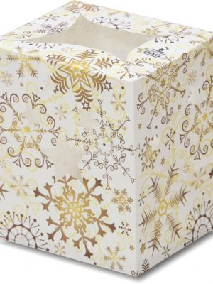 Gold Christmas Snowflake Luminary Candle Bags - Christmas Edition