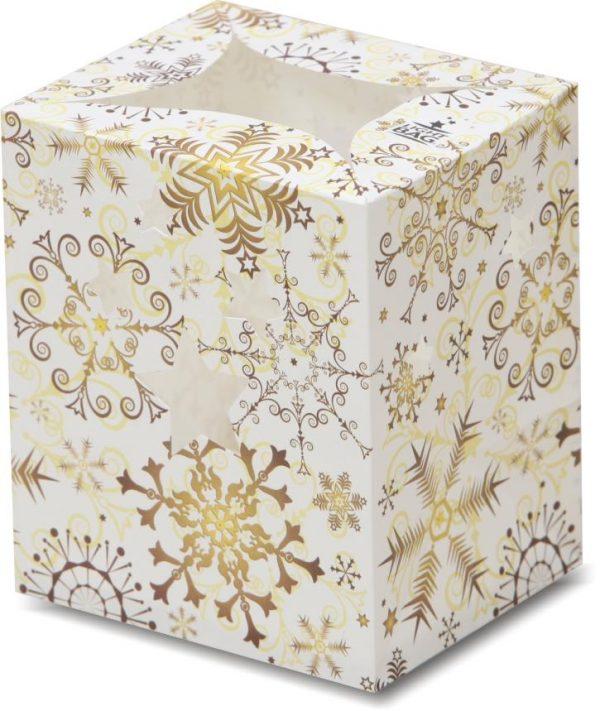 Gold Christmas Snowflake Luminary Candle Bags - Christmas Edition
