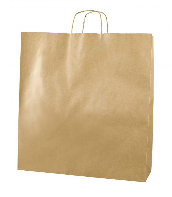 Brown Twist Handle Paper Carrier Bags - Size XX Large 45 x 17 x 49cms