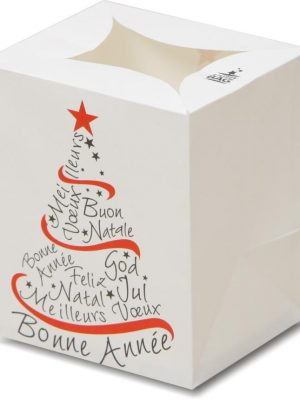Typography Tree Luminary Candle Bags - Christmas Edition