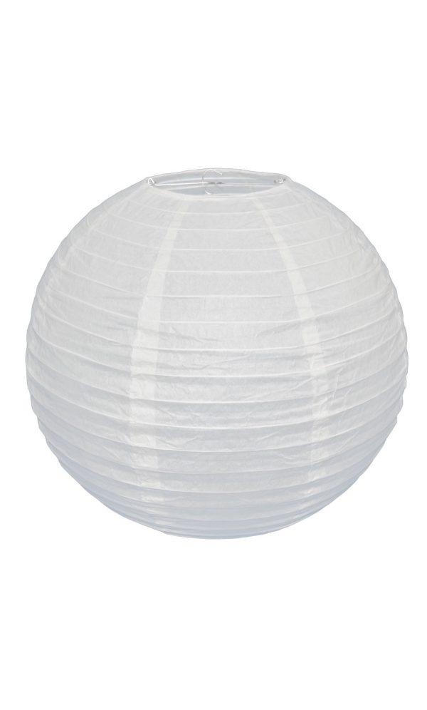 White Chinese Paper Lantern - 16 Inch