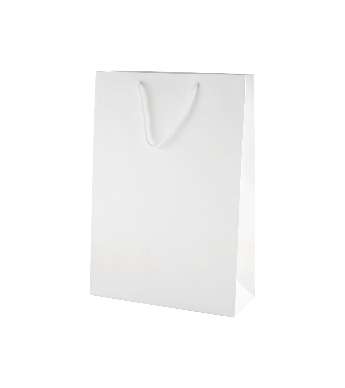 White Matt Boutique Paper Carrier Bags With Rope Handles
