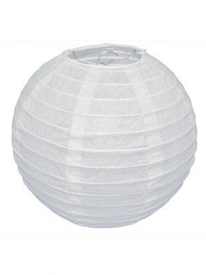 White Chinese Paper Lantern - 8 Inch