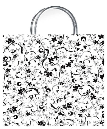 Chic White Luxury Gift Bag - Size Medium
