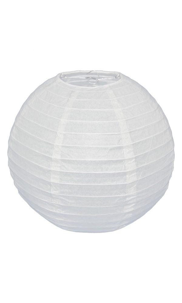 White Chinese Paper Lantern - 12 Inch