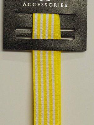 Yellow Block Stripes Ribbon