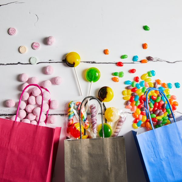 Bags with sweets