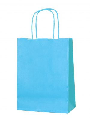 Light Blue small paper gift bag with handle